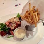 Lobster Sandwich (Lunch Menu) substituted fries for chips w blue cheese dressing.