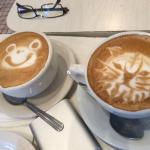 Nice coffee - is the one on the left a bear or a frog?
