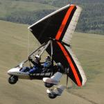 Airborne Over Cody Powered Hang Gliding