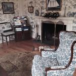 The sitting room in main house of inn