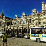 Tour bus at Dunedin Train station