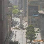 View from 17th floor to the Chongqing People's Liberation Monument