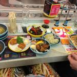 Lots of plates at Yo Sushi