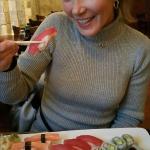 Having sushi and Sushi Nami