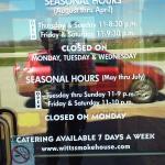 seasonal hours