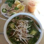 Pho and tai tea with boba