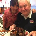 Ling Lamb and my dad with a rather delicious plate of ribs