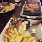 The Mixed grill (£13.99) There is a lot of meat.