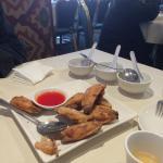Chicken wings appetizer.