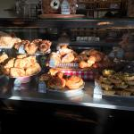 A typical breakfast here! Quiches, muffins, scones and magic