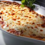 Their delicious baked lasagna!