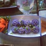 Hand made floral dumplings!!