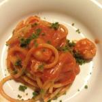 Spaghetti mit Scampi und Tomatencreme