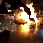 Crevettes flambées