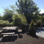 view from patio room oldmills garden