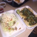 Carnitas sope and asado tacos.