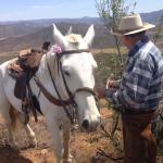 Raul giving Rocinante some love love atop the mountain