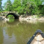 going under the little bridge