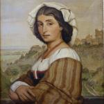 Janus la Cour: The model Stella. In the Background, Ariccia