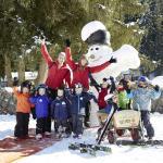 Ski-Zwergerlkurs vorm Hotel, bei guter Schneelage bis Mitte März