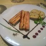 Foie gras au poivrons rotis
