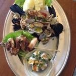 Fantastico antipasto dì mare mangiato al ristorante il panorama grazie al suggerimento del propr