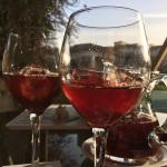 sangria at the terrace