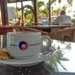 Coffee Bar Overlooking Pool