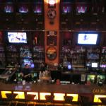 Restaurant bar from our seats  upstairs