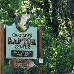This is the sign at the turn-in to the Raptor Center