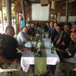 The Guatemalan Navy enjoying cold drinks and incredible hospitality