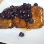 Blueberry ricotta crepes
