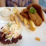 Disappointing fish, so thin. Coleslaw was miserably little. Tartar sauce was no big deal.