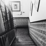 Vista da escada no segundo andar