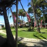 el Jardín entre la playa y el hotel