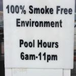 This is a farce. Smoking is allowed all over the property and they won't do anything about it.