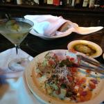 Dirty Martini and Bruchetta