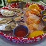 Raw Bar platter ready to be served