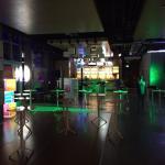 Sat night lobby turns into a club