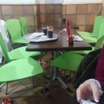 Asi estaban todas las mesas...
