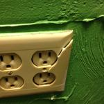 Broken electrical plugs