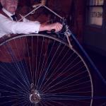 Penny farthing bicycle demonstration
