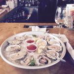 Blue point East coast and gulf oysters.
