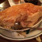 The chicken pot pie- incredibly fluffy, hot, and delicious!