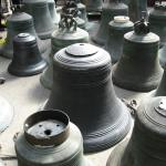 Bell cast in 1520 in for repair