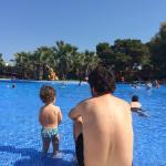 La piscina es genial incluso para los bebes