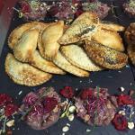 Empanadas et tartare de magret de canard a la framboise