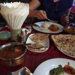 Special set dinner for two, 480bht. 2 drinks, 2 naan, chicken tikka masala, chicken curry. 2 ric