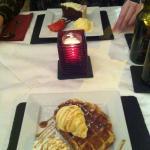 belgian waffle dessert
