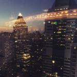Enjoy the view from the 47th and 48th floors of New York Marriott Marquis